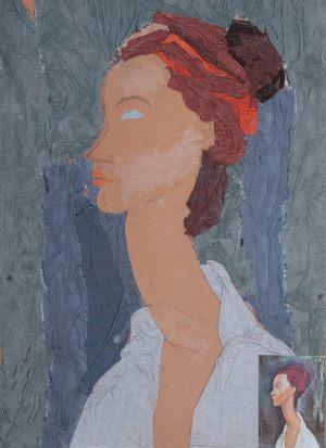 """Dorota Grzywińska, 12 lat, Amadeo Modigliani """"Portret Luni Czechowskiej"""""""