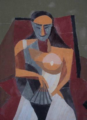 """Filip Zagórski, 13 lat, Pablo Picasso """"Kobieta z wachlarzem"""""""
