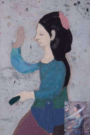 """Kasia Grabowska, 15 lat, Pablo Picasso """"Kobieta z wachlarzem"""""""