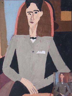 """Małgosia Olędzka, 13 lat, Amadeo Modigliani """"Porter Jeana Cocteau"""""""