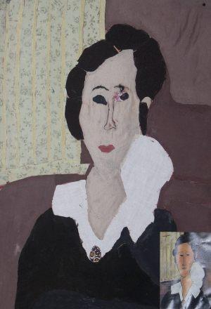 """Magda Walkiewicz, 13 lat, Amadeo Modigliani """"Portret Hanny Zborowskiej"""""""