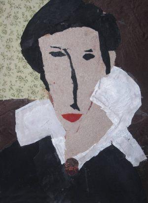 """Tomek Mozdyniewicz, 11 lat, Amadeo Modigliani """"Porter Hanny Zborowskiej"""""""