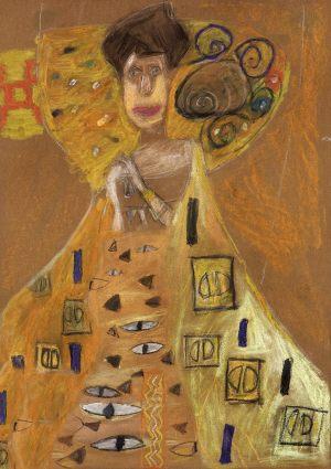 "Agata Komarcikcka, 9 lat, Gustaw Klimt ""Portret Adele Bloch-Bauer"""
