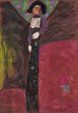 "Emilka Gołos, 7 lat, Gustaw Klimt ""Portert Emilie Flöge"""