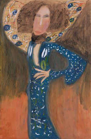 """Helenka Szwoch, 10 lat, Gustaw Klimt """"Portert Emilie Flöge"""""""