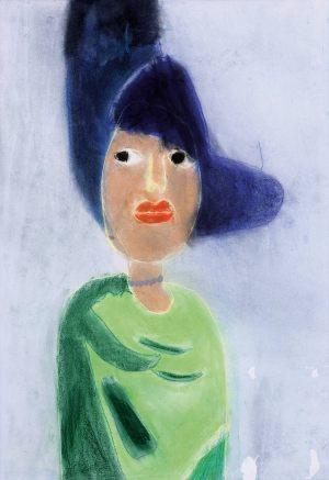 "Julka Jagiełło, 7 lat, Kees van Dongen ""Dama w czarnym kapeluszu"""