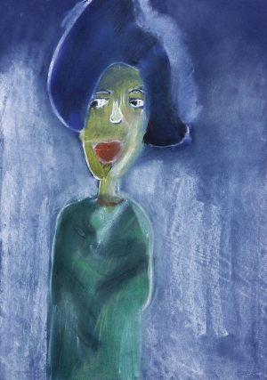 "Emilka Jagiełło, 9 lat, Kees van Dongen ""Dama w czarnym kapeluszu"""