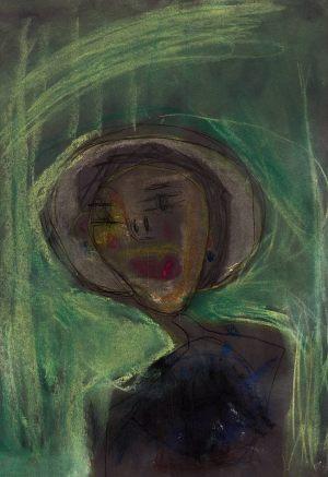 """Jaś Rudzki, 6 lat, Zbigniew Pronaszko """"Portret żony w białym kapeluszu"""""""