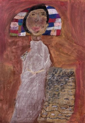 "Martyna Kupis, 7 lat, Gustaw Klimt ""Portter Fritzy Riedler"""