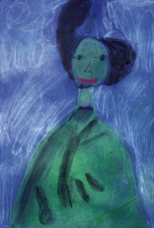 "Michał Turek, 6 lat, Kees van Dongen ""Dama w czarnym kapeluszu"""