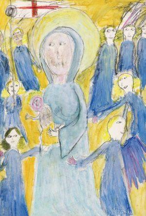 """Ola Krawczyk, 9 lat, Autor Nieznany """"Dyptyk z Wilton House"""""""
