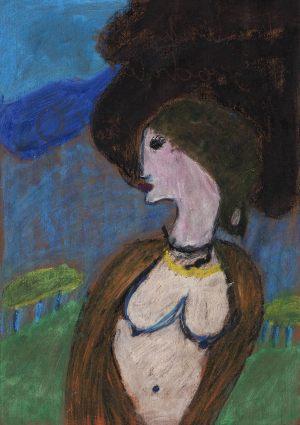 """Paulina Sadoch, 8 lat, Piero di Cosimo """"Portret Simonetty Vespucci"""""""