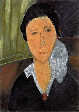 """Zula Nowicka, 12 lat, Amadeo Modigliani """"Portret Hanki Zborowskiej"""""""